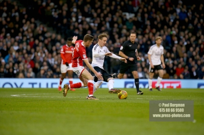 23/12/2017. Fulham v Barnsley. Action from the SkyBet Championship at Craven Cottage. FulhamÕs Stefan JOHANSEN