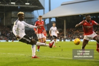 23/12/2017. Fulham v Barnsley. Action from the SkyBet Championship at Craven Cottage. FulhamÕs Sheyi OJO