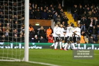 23/12/2017. Fulham v Barnsley. Action from the SkyBet Championship at Craven Cottage. FulhamÕs Floyd AYITE celebrates