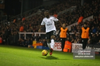 23/12/2017. Fulham v Barnsley. Action from the SkyBet Championship at Craven Cottage. FulhamÕs Neeskens KEBANO