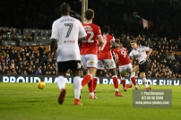23/12/2017. Fulham v Barnsley. Action from the SkyBet Championship at Craven Cottage. FulhamÕs Tom CAIRNEY shoots