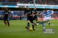 9/12/2017. Queens Park Rangers v Leeds United. Action from the SkyBet ChampionshipQPRÕs Massimo LUONGO shoots