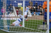9/12/2017. Queens Park Rangers v Leeds United. Action from the SkyBet Championship QPR's Luke FREEMAN blazes over the bar