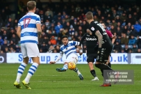 9/12/2017. Queens Park Rangers v Leeds United. Action from the SkyBet Championship QPRÕs Massimo LUONGO