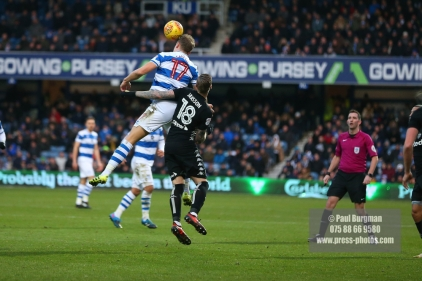 9/12/2017. Queens Park Rangers v Leeds United. Action from the SkyBet Championship QPRÕs Matt SMITH