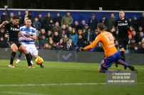 9/12/2017. Queens Park Rangers v Leeds United. Action from the SkyBet Championship QPRÕs Conor WASHINGTON
