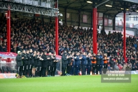 27/01/2018. Brentford FC v Norwich City. SkyBet Championship Match Action from Griffin Park. Pre Match Applause