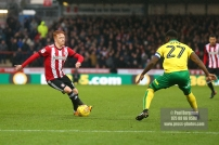 27/01/2018. Brentford FC v Norwich City. SkyBet Championship Match Action from Griffin Park Brentford's Ryan WOODS