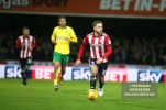 27/01/2018. Brentford FC v Norwich City. SkyBet Championship Match Action from Griffin Park Brentford's Alan JUDGE