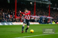 10/02/2018. Brentford v Preston North End. SkyBet Championship Match Action from Griffin Park. Brentford's Henrik DALSGAARD