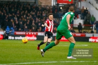 10/02/2018. Brentford v Preston North End. SkyBet Championship Match Action from Griffin Park. Brentford's Josh MCEACHRAN