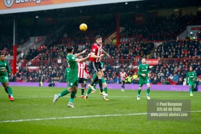 10/02/2018. Brentford v Preston North End. SkyBet Championship Match Action from Griffin Park. Brentford's John EGAN