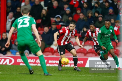 10/02/2018. Brentford v Preston North End. SkyBet Championship Match Action from Griffin Park. Brentford's Neal MAUPAY