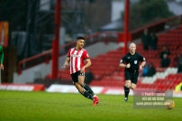 10/02/2018. Brentford v Preston North End. SkyBet Championship Match Action from Griffin Park. Brentford's Ollie WATKINS