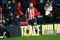 10/02/2018. Brentford v Preston North End. SkyBet Championship Match Action from Griffin Park. Brentford's Alan JUDGE