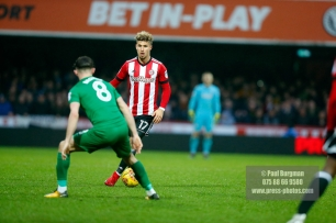 10/02/2018. Brentford v Preston North End. SkyBet Championship Match Action from Griffin Park. Brentford's Eniliano MARCONDES