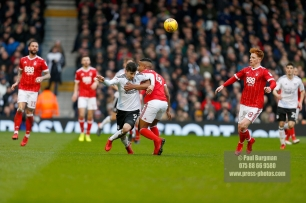 3/02/2018. Fulham v Nottingham Forrest. Match Action from the SkyBet Championship at Craven Cottage