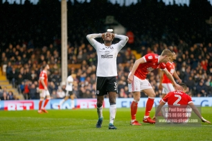 3/02/2018. Fulham v Nottingham Forrest. Match Action from the SkyBet Championship at Craven Cottage. FulhamÕs Ryan SESSEGNON reacts to missing target