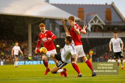 3/02/2018. Fulham v Nottingham Forrest. Match Action from the SkyBet Championship at Craven Cottage FulhamÕs Aleksandar MITROVIC