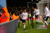 3/02/2018. Fulham v Nottingham Forrest. Match Action from the SkyBet Championship at Craven Cottage. FulhamÕs Lucas PIAZON celebrates