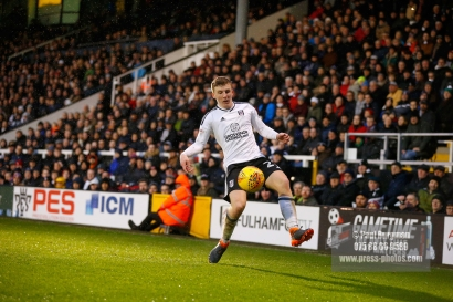3/02/2018. Fulham v Nottingham Forrest. Match Action from the SkyBet Championship at Craven Cottage FulhamÕs Matt TARGETT