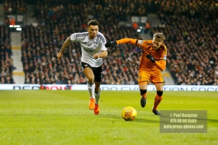 24/02/2018. Fulham v Wolverhampton Wanderers. Action from the SkyBet Championship at Craven Cottage as League leaders visit 5th place. FulhamÕs Ryan FREDERICKS