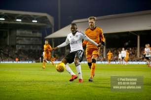 24/02/2018. Fulham v Wolverhampton Wanderers. Action from the SkyBet Championship at Craven Cottage as League leaders visit 5th place. FulhamÕs Floyd AYITE