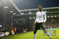 24/02/2018. Fulham v Wolverhampton Wanderers. Action from the SkyBet Championship at Craven Cottage as League leaders visit 5th place. FulhamÕs Ryan SESSEGNON celebrates