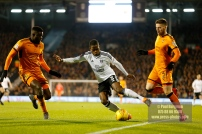 24/02/2018. Fulham v Wolverhampton Wanderers. Action from the SkyBet Championship at Craven Cottage as League leaders visit 5th place. FulhamÕs Ryan SESSEGNON