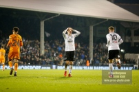 24/02/2018. Fulham v Wolverhampton Wanderers. Action from the SkyBet Championship at Craven Cottage as League leaders visit 5th place. FulhamÕs Stefan JOHANSEN