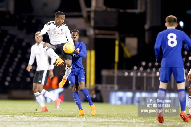27/02/2018. Fulham v Chelsea FA Youth Cup. Steven SESSEGNON