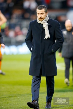 24/02/2018. Fulham v Wolverhampton Wanderers. Action from the SkyBet Championship at Craven Cottage as League leaders visit 5th place. Fulham FC Manager Slavisa JOKANOVIC