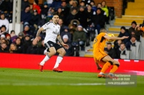 24/02/2018. Fulham v Wolverhampton Wanderers. Action from the SkyBet Championship at Craven Cottage as League leaders visit 5th place. FulhamÕs Aleksandar MITROVIC