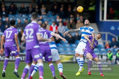 17/02/2018. Queens Park Rangers v Bolton Wanderers. SkyBet Championship Action from Loftus Road. QPR's Joel LYNCH