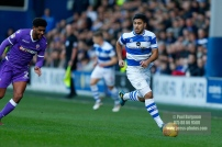 17/02/2018. Queens Park Rangers v Bolton Wanderers. SkyBet Championship Action from Loftus Road. QPR's Massimo LUONGO