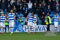 17/02/2018. Queens Park Rangers v Bolton Wanderers. SkyBet Championship Action from Loftus Road. QPRÕs Matt SMITH celebrates