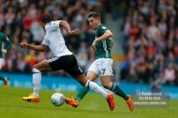 14/04/2018. Fulham v Brentford. SkyBet Championship Action from Craven Cottage. Brentford's Sergi CANOS