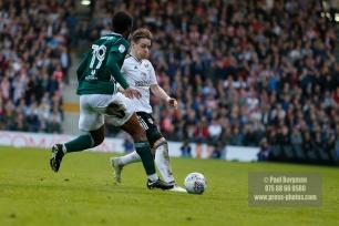 14/04/2018. Fulham v Brentford. SkyBet Championship Action from Craven Cottage. FulhamÕs Stefan JOHANSEN