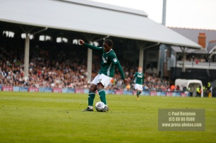 14/04/2018. Fulham v Brentford. SkyBet Championship Action from Craven Cottage. Brentford's Romaine SAWYERS takes free kick