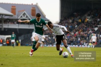 14/04/2018. Fulham v Brentford. SkyBet Championship Action from Craven Cottage. FulhamÕs Ryan SESSEGNON & Brentford's John EGAN