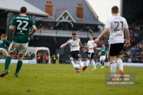 14/04/2018. Fulham v Brentford. SkyBet Championship Action from Craven Cottage. FulhamÕs Tom CAIRNEY shoots
