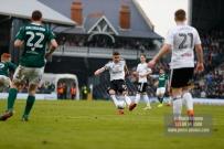 14/04/2018. Fulham v Brentford. SkyBet Championship Action from Craven Cottage. FulhamÕs Tom CAIRNEY shoots