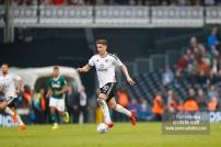 14/04/2018. Fulham v Brentford. SkyBet Championship Action from Craven Cottage. FulhamÕs Tom CAIRNEY