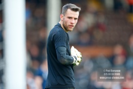 14/04/2018. Fulham v Brentford. SkyBet Championship Action from Craven Cottage. FulhamÕs Goalkeeper Marcus BETTINELLI