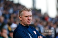 14/04/2018. Fulham v Brentford. SkyBet Championship Action from Craven Cottage. Brentford's Manager Dean SMITH