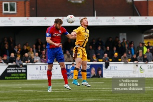 28/04/2018. Sutton United v Aldershot Town. Action from Gander Green Lane. Aldershot Town's Will EVANS