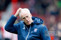 07/04/2018. Brentford FC v Ipswich Town, SkyBet Championship Action from Griffin Park Ipswich Town Manager Mick MccARTHY