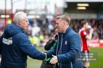 07/04/2018. Brentford FC v Ipswich Town, SkyBet Championship Action from Griffin Park Brentford's Manager Dean SMITH & Ipswich Town Manager Mick MccARTHY