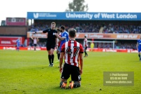 07/04/2018. Brentford FC v Ipswich Town, SkyBet Championship Action from Griffin Park Brentford's Sergi CANOS wins penalty