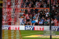 21/04/2018. Brentford v Queens Park Rangers SkyBet Championship Action from Griffin Park. Brentford's Sergi CANOS celebrate